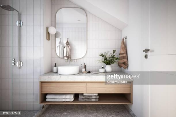 モダンバスルームインテリアストック写真 - 水周り ストックフォトと画像