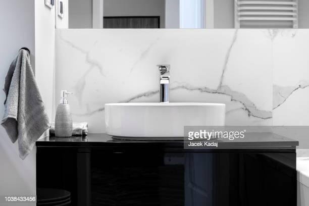 modern bathroom - mazowieckie stock pictures, royalty-free photos & images
