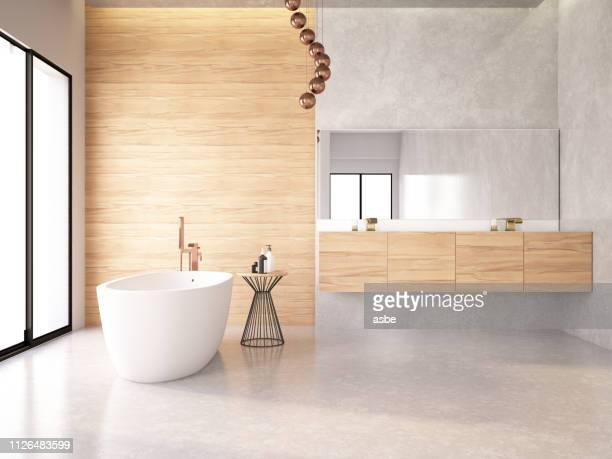 moderne badkamer - badkamer huis stockfoto's en -beelden