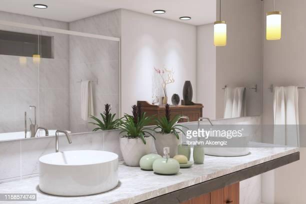 modernt badrum - ho bildbanksfoton och bilder