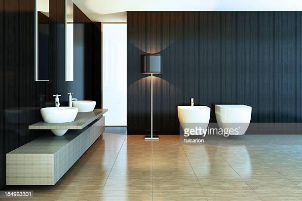 モダンなバスルーム - ビデ ストックフォトと画像