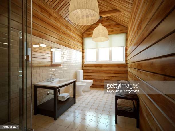 modern bathroom - ビデ ストックフォトと画像