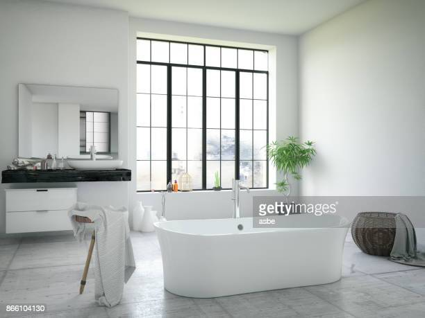 modern bathroom - bathroom stock photos and pictures