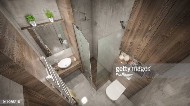 Modern bathroom render