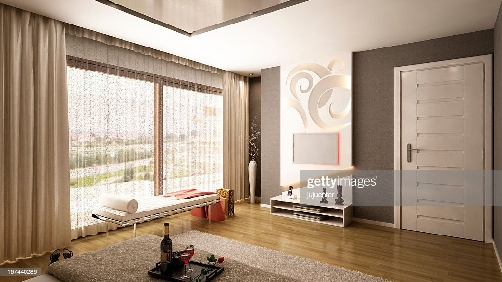 Modern Bedroom : Stock Photo