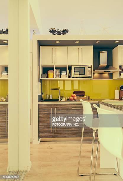 interior moderno de belgrado - cozinha doméstica - fotografias e filmes do acervo