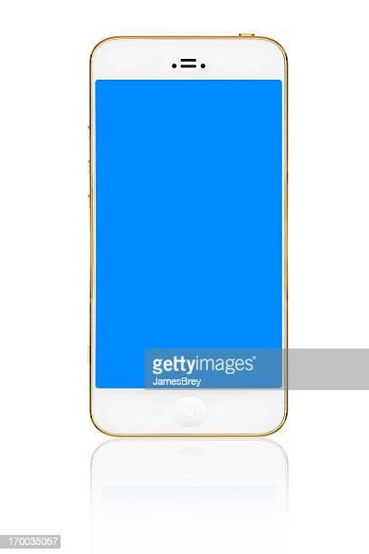 Moderne großen Bildschirm Smartphone isoliert auf weiss