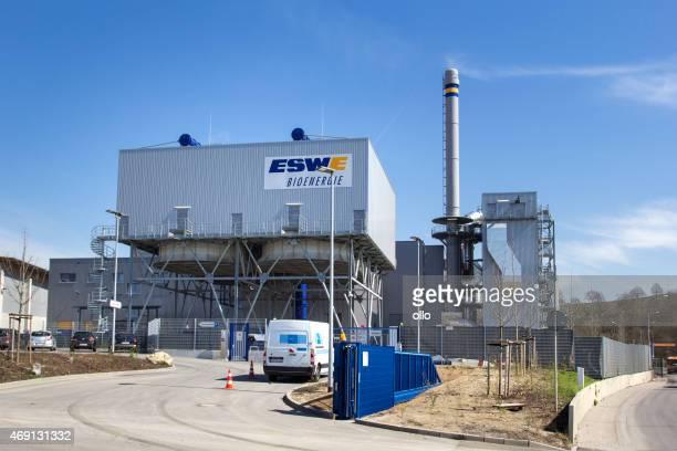 Moderne biogas fahren Pflanze von ESWE Wiesbaden, Deutschland
