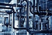 Modern boiler room equipment for heating system