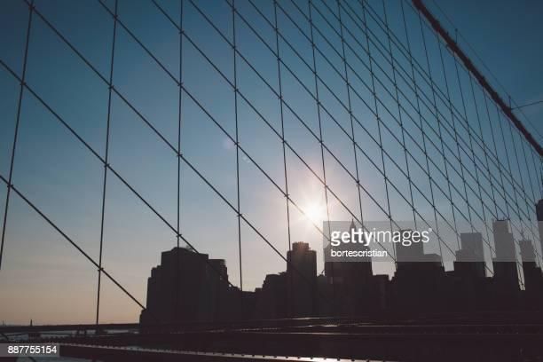 Modern Bridge Against Sky In City
