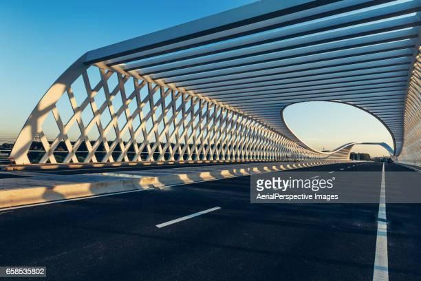 Modern bridge (Beiqijia Bridge) in Beijing, China