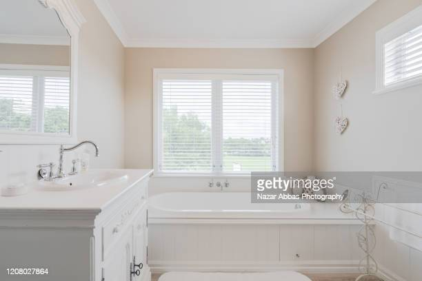 modern bright bathroom. - nazar abbas photography stock pictures, royalty-free photos & images