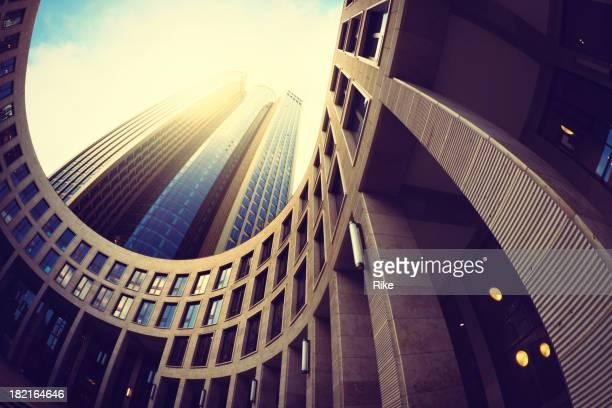 Modern building against sunny sky