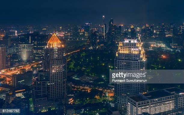 Modern building at Bangkok city in the night, Bangkok