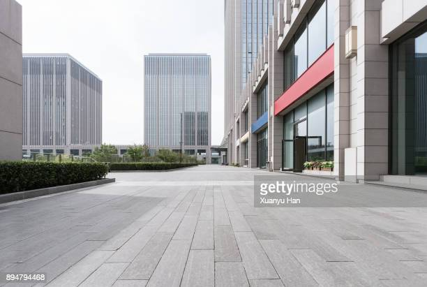 modern building , beijing , china - empty road stock pictures, royalty-free photos & images