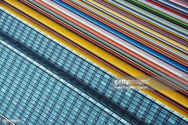 Modern Building By Colorful Striped Pattern