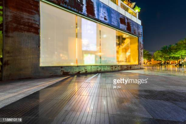 modern building exterior with empty space - store window stock pictures, royalty-free photos & images