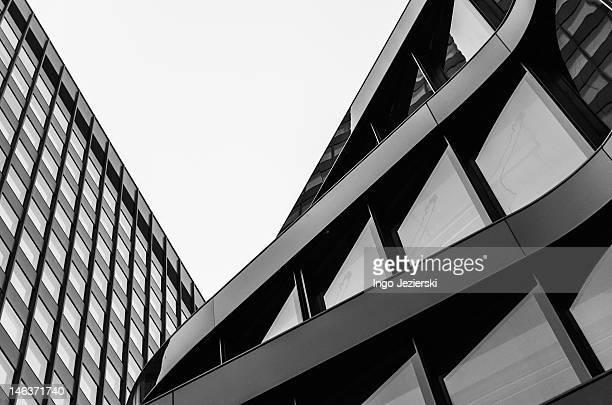 Modern building facades