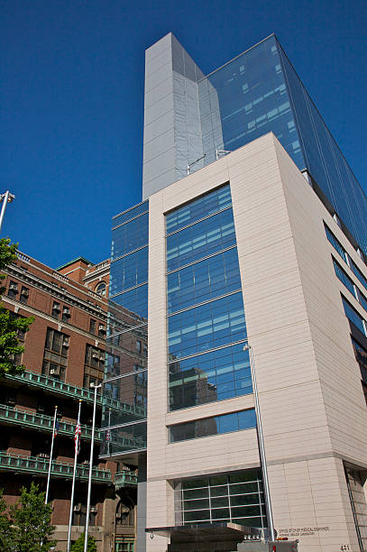 Modern building for Office of Chief Medical Examiner, Forensic Biology Laboratory, New York, New York, USA