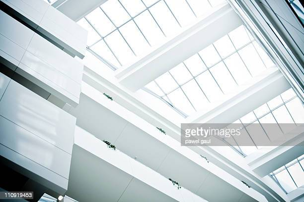 Modern building glass ceiling