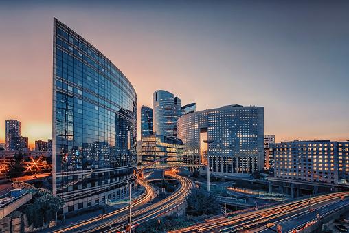Modern building in Paris 1048358188