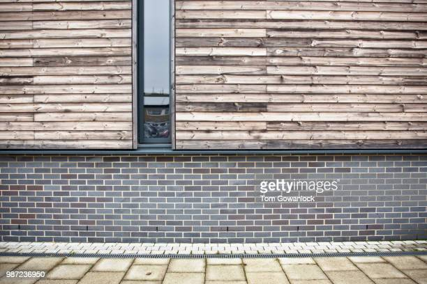modern building - wall building feature stock photos and pictures