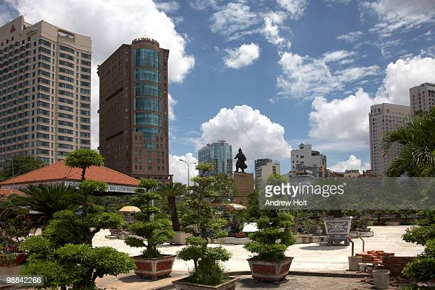 Modern buildings around Me Linh Square