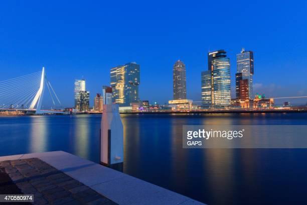 modern buildings at Rotterdam's Kop van Zuid