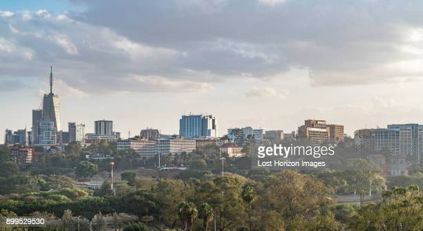modern buildings downtown nairobi, nairobi area, kenya, africa - nairobi stock pictures, royalty-free photos & images