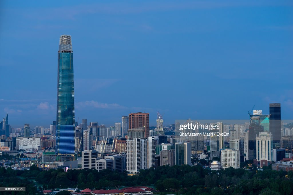 Modern Buildings In City Against Blue Sky : Stock Photo