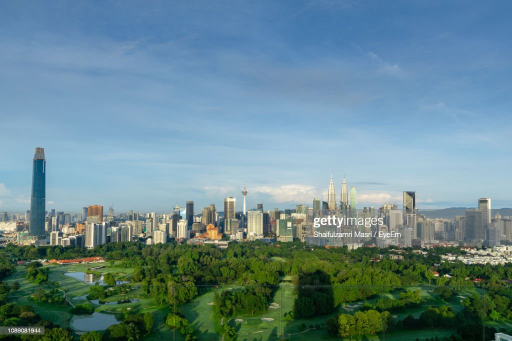 Modern Buildings In City Against Sky : Stock Photo