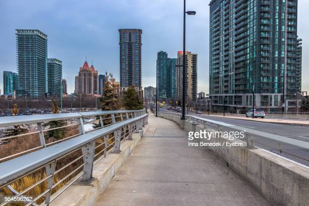 modern buildings in city against sky - mississauga stock pictures, royalty-free photos & images