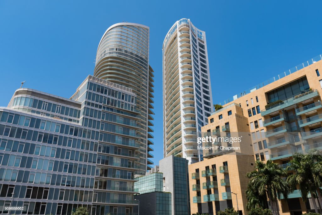 Modern buildings in Downtown, Beirut, Lebanon : Stock-Foto