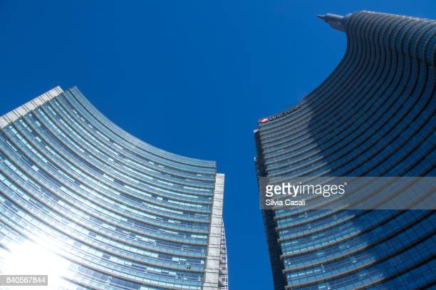 Modern buildings in Piazza Gae Aulenti Milan