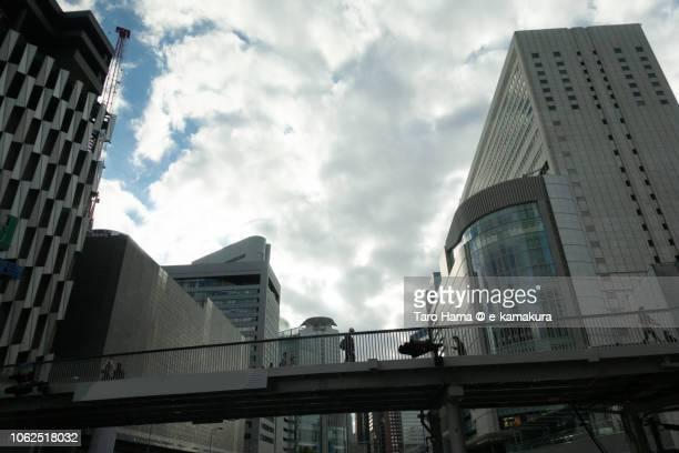 Modern buildings in Umeda area of Osaka city in Japan