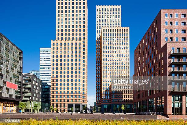 Modern buildings in Zuidas district