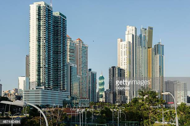 xxxl: modern buildings of the skyline of panama city - ogphoto stock pictures, royalty-free photos & images