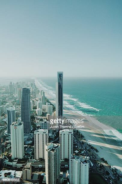 Modern Buildings On Gold Coast Shore