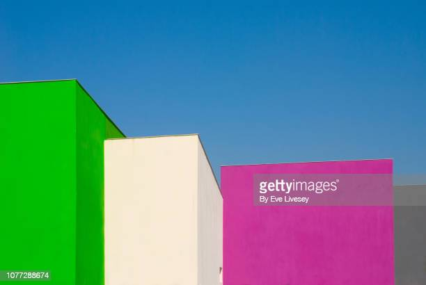 modern buildings - magenta stock pictures, royalty-free photos & images