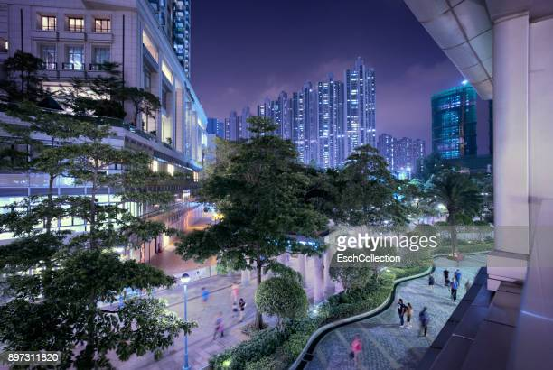 Modern business and residential district in Hong Kong