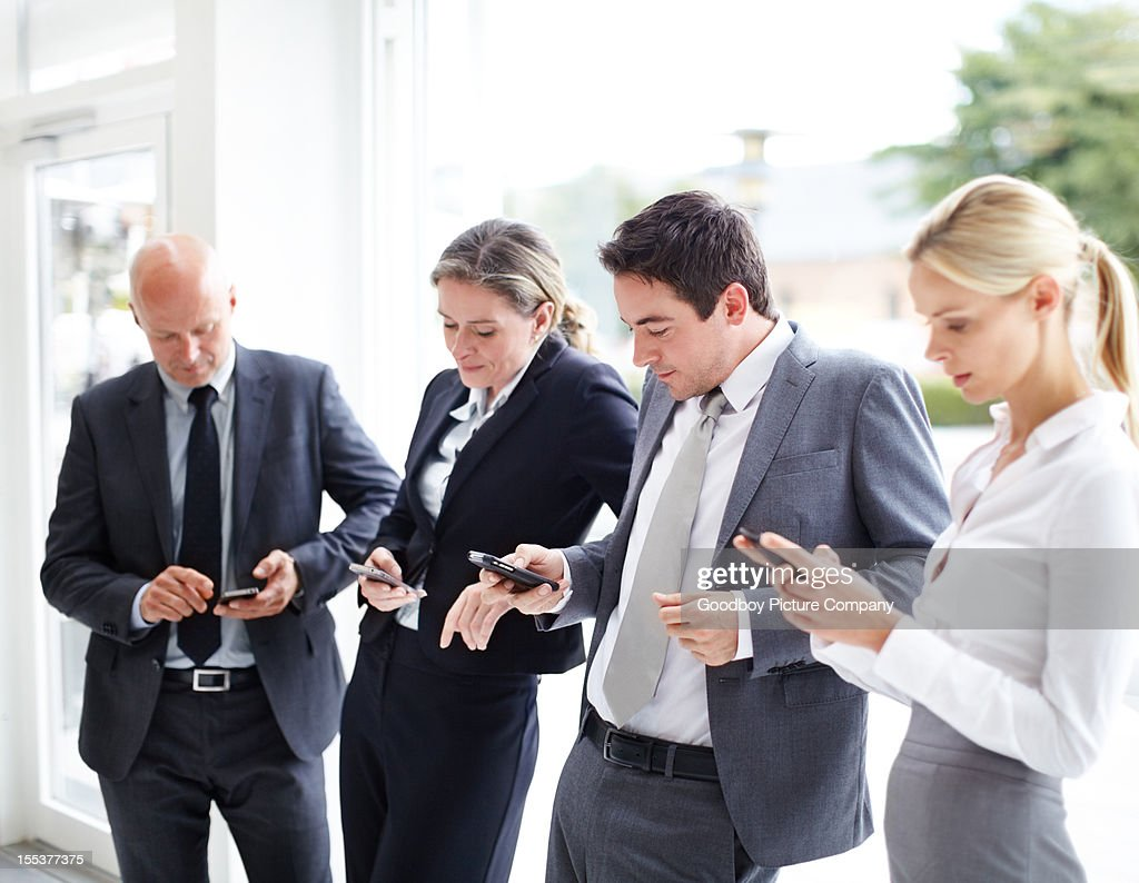 Modern business communications : Stock Photo