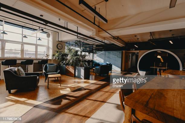 modern business - coworking interior - hub stock pictures, royalty-free photos & images