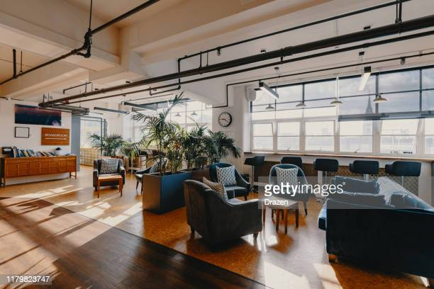 modern business - coworking interior - coworking stock pictures, royalty-free photos & images