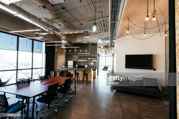 modern business interior - coworking space - coworking stock photos and pictures