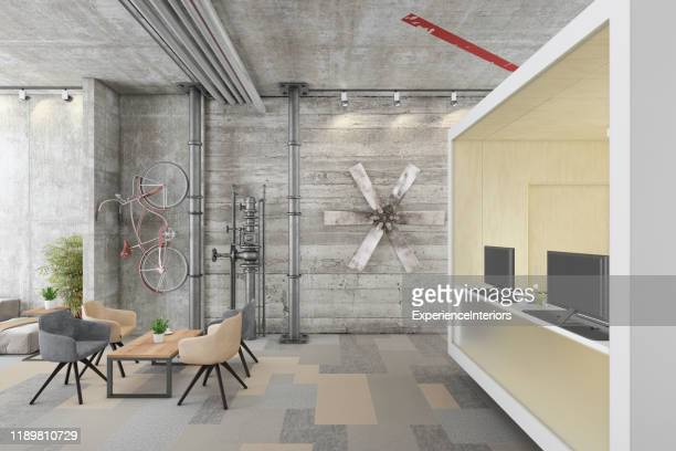 modern business office interior - building feature stock pictures, royalty-free photos & images