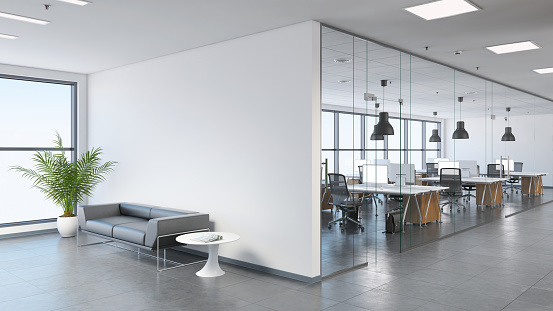 Modern business office space with lobby 811843986