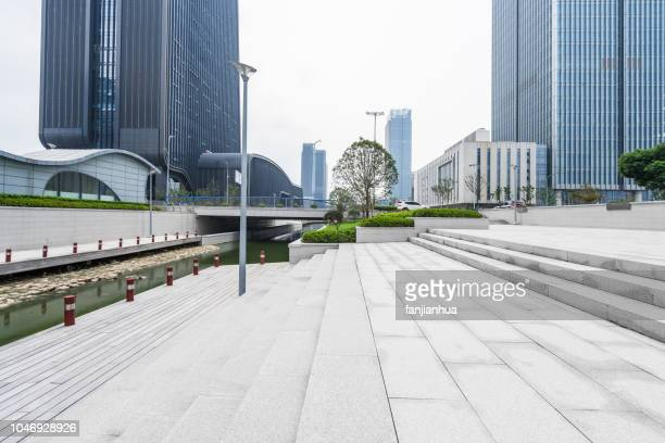 modern business park against sky - business community stock pictures, royalty-free photos & images