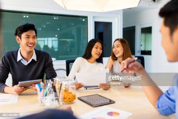 Modern business team in a meeting