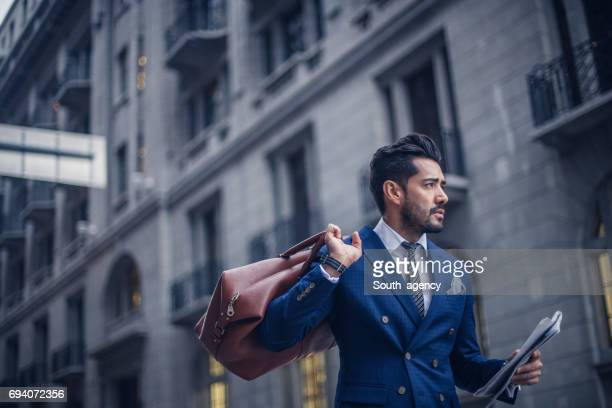 modern businessman downtown - charming stock pictures, royalty-free photos & images