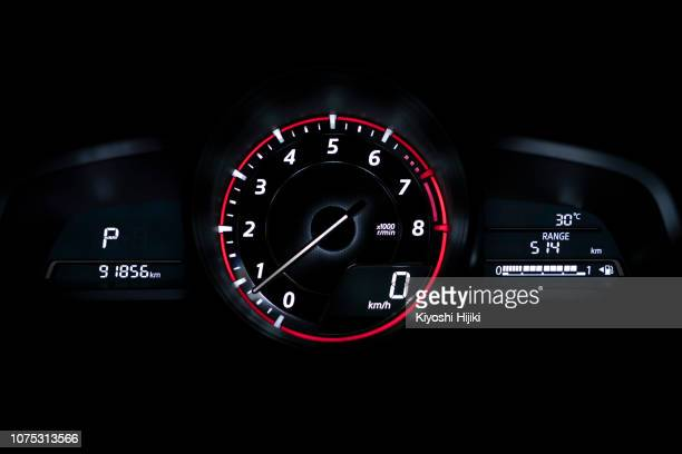 modern car speedometer panel - dashboard stock pictures, royalty-free photos & images